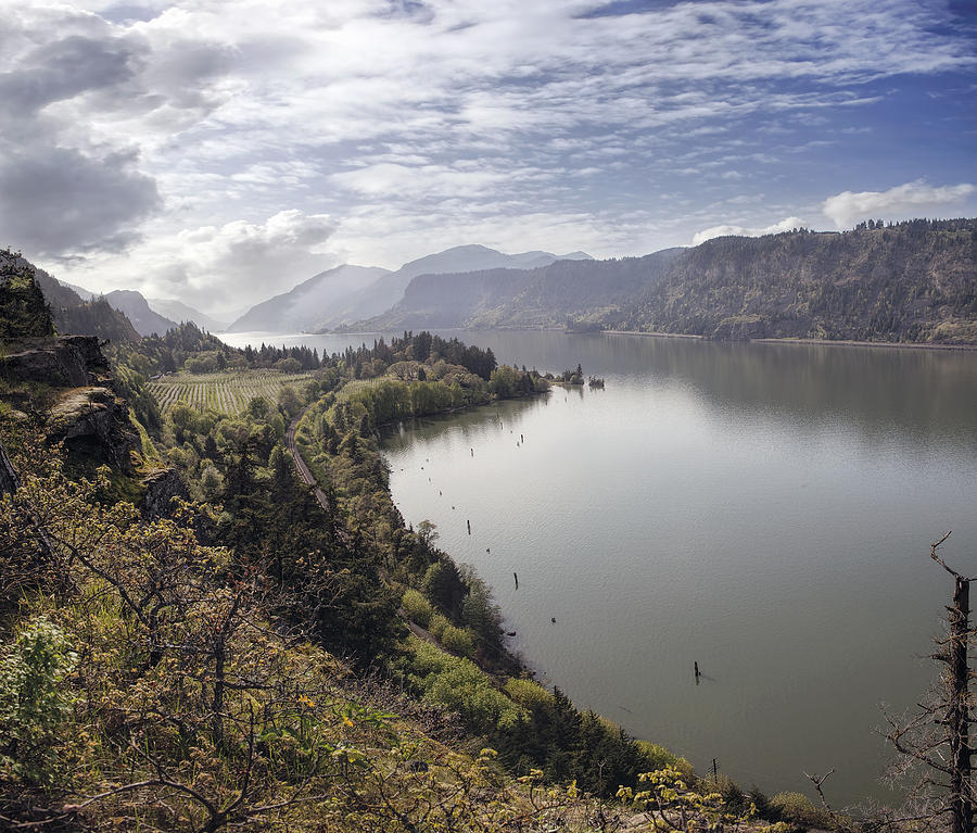 Columbia River Gorge At Hood River Photograph