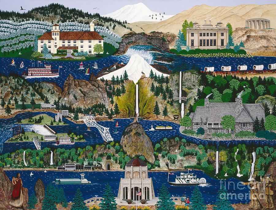 Washington Painting - Columbia River Gorge by Jennifer Lake