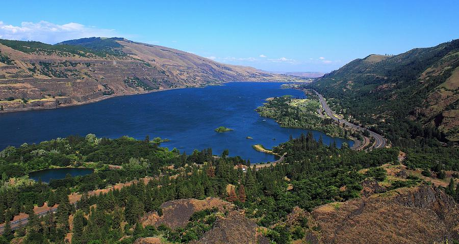 Rivers Photograph - Columbia River Gorge by Ron Latimer