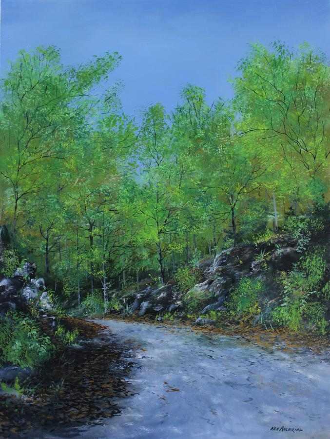 Columbia Trail Painting - Columbia Trail by Ken Ahlering