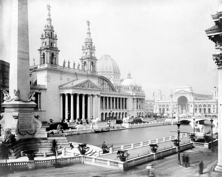 Science Photograph - Columbian Expo, Palace Of Mechanic by Science Source