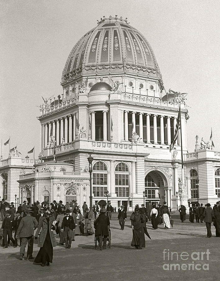 Columbian Exposition Photograph - Columbian Exposition Chocolat 1893 by Martin Konopacki Restoration