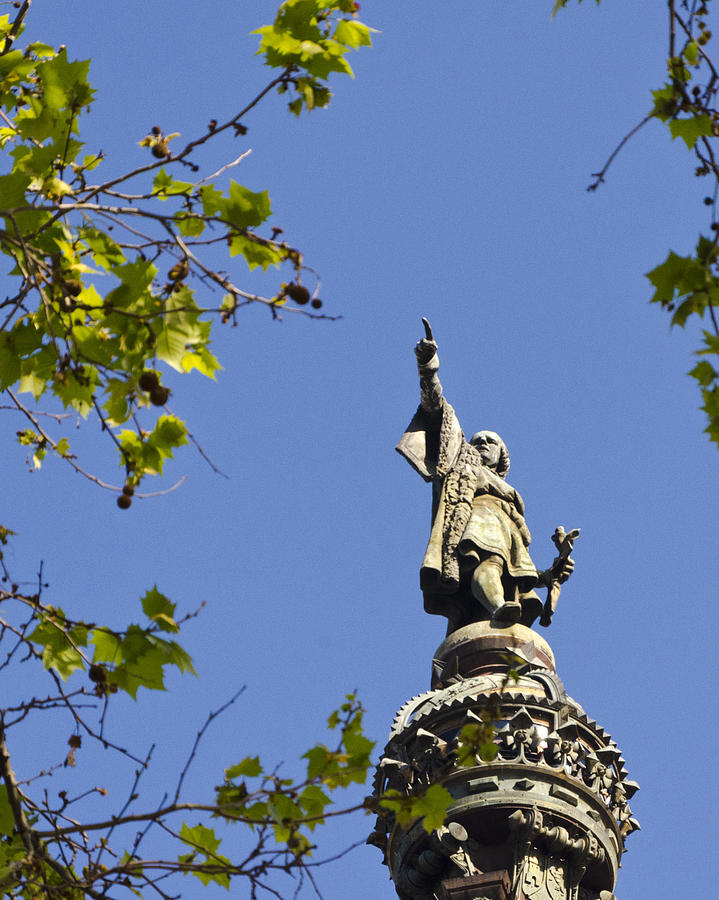 Barcelona Photograph - Columbus Monument - Barcelona by Jon Berghoff