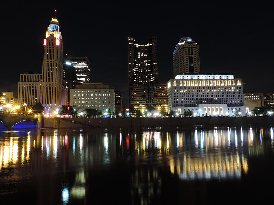 City Photograph - Columbus Skyline At Night by Cityscape Photography