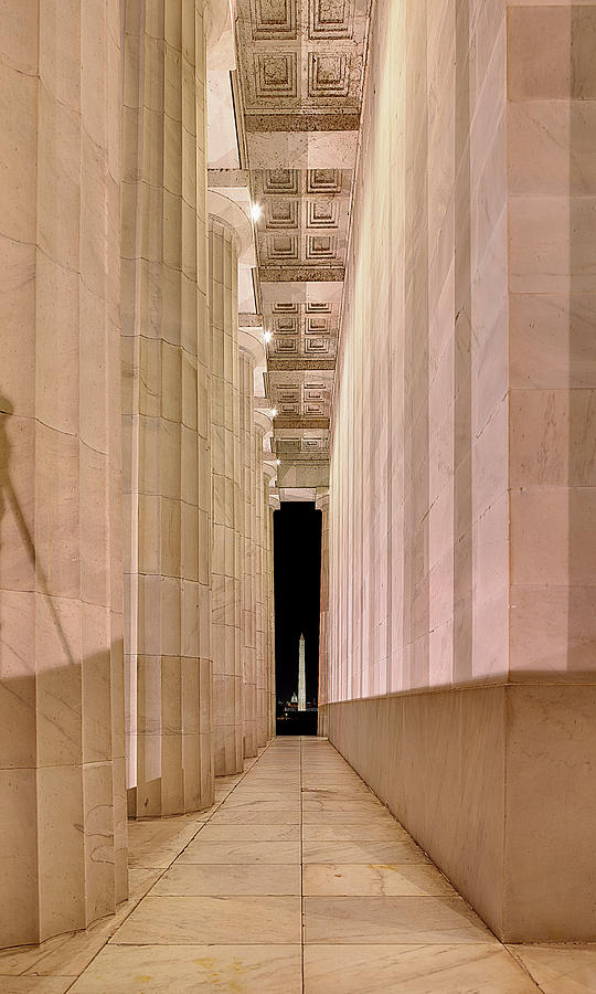 Metro Photograph - Columns And Monuments by Metro DC Photography