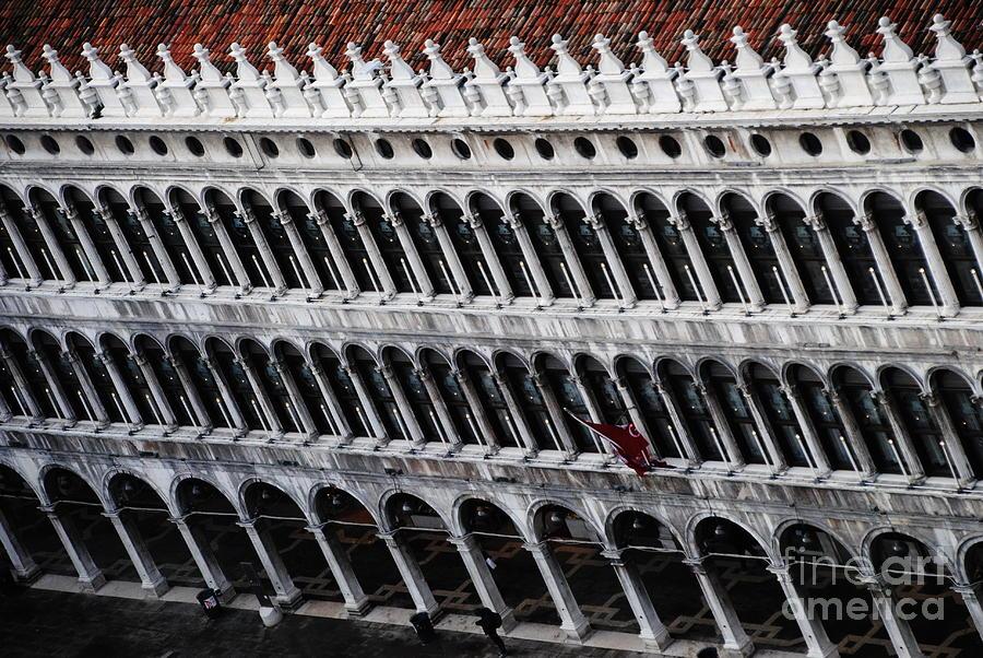 Piazza San Marco Photograph - Columns Leaning by Jacqueline M Lewis