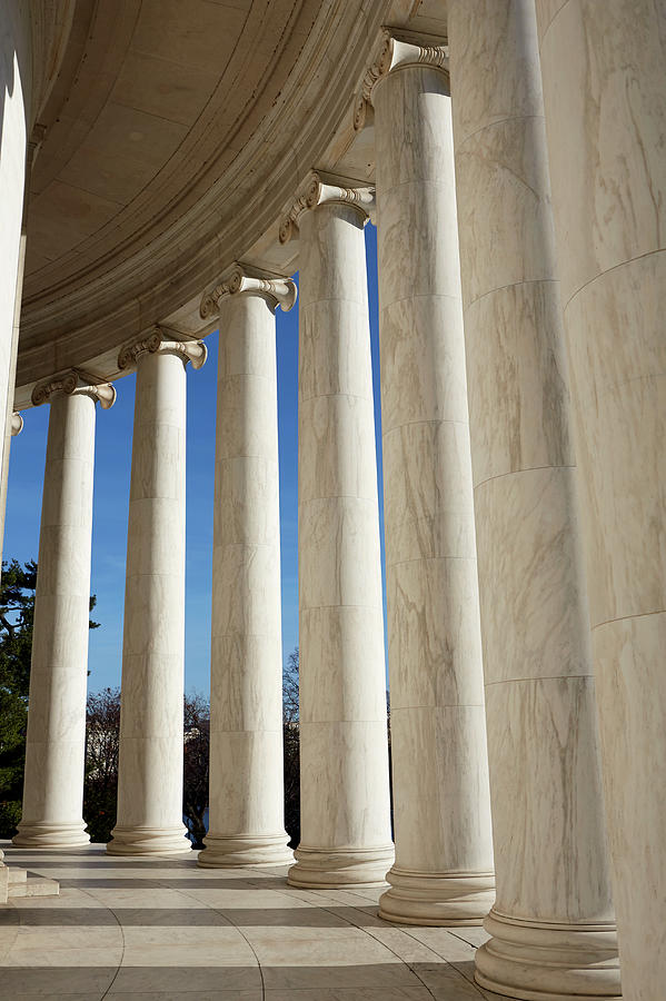 Columns Of The Jefferson Memorial Photograph by Allan Baxter