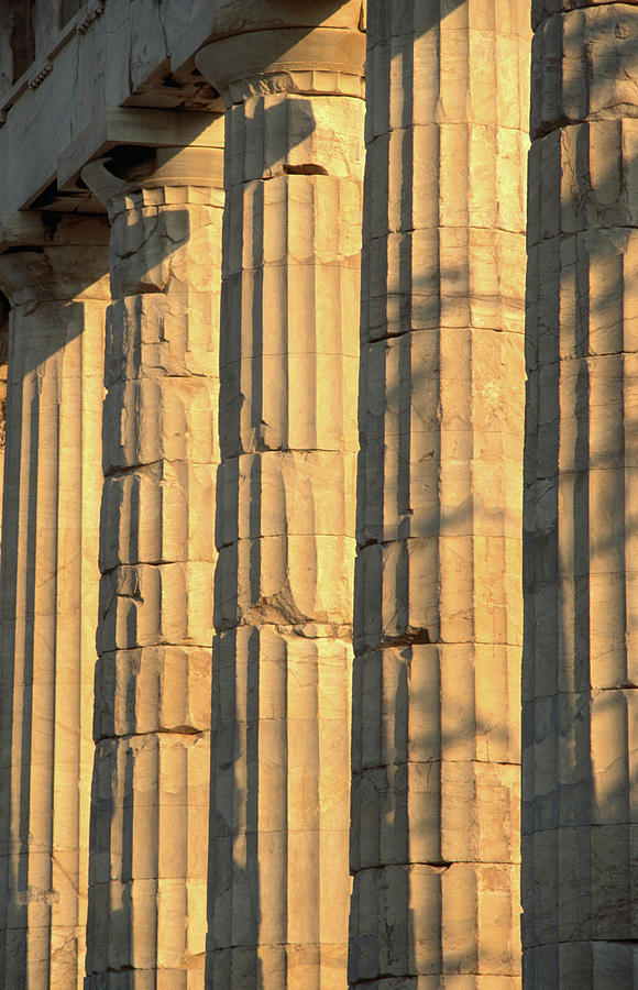 Columns Of The Parthenon, Considered Photograph by John Elk