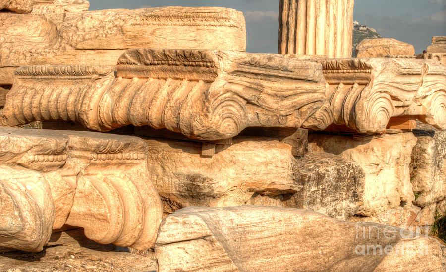 Greece Photograph - Columns Of The Parthenon by Deborah Smolinske