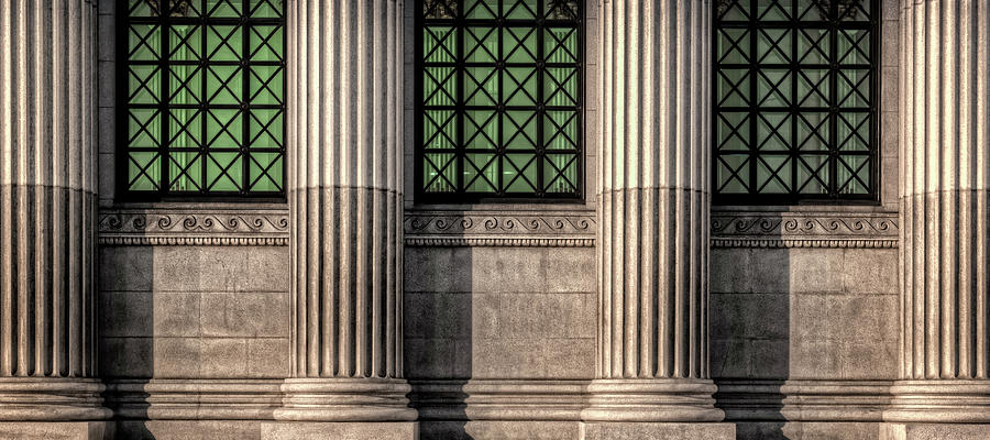 Columns On An Old Building Photograph by Thomas Winz