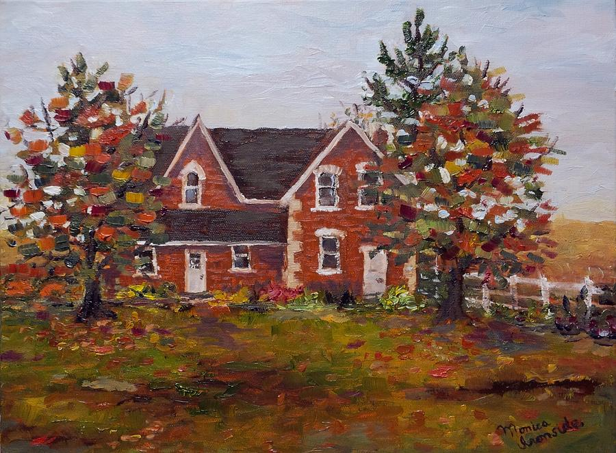 Landscape Painting - Colwill Homestead by Monica Ironside
