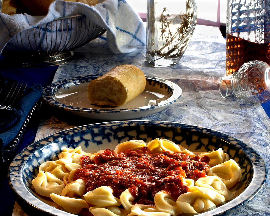 Tortellini Photograph - Come Dine by Camille Lopez