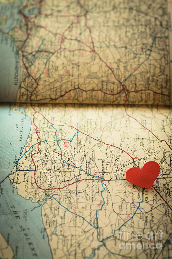 Map Photograph - Come Find Me by Jan Bickerton
