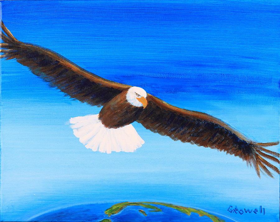 Eagle Painting - Come Fly With Me by Gary Rowell
