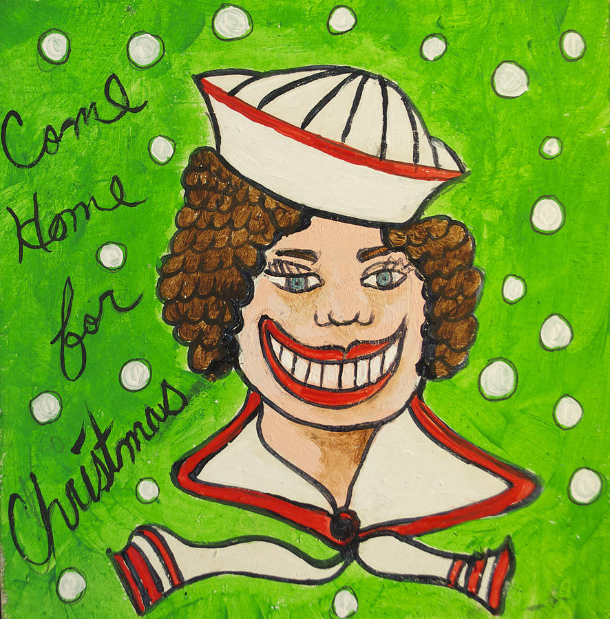 Christmas Painting - Come Home For Christmas Tillie by Patricia Arroyo