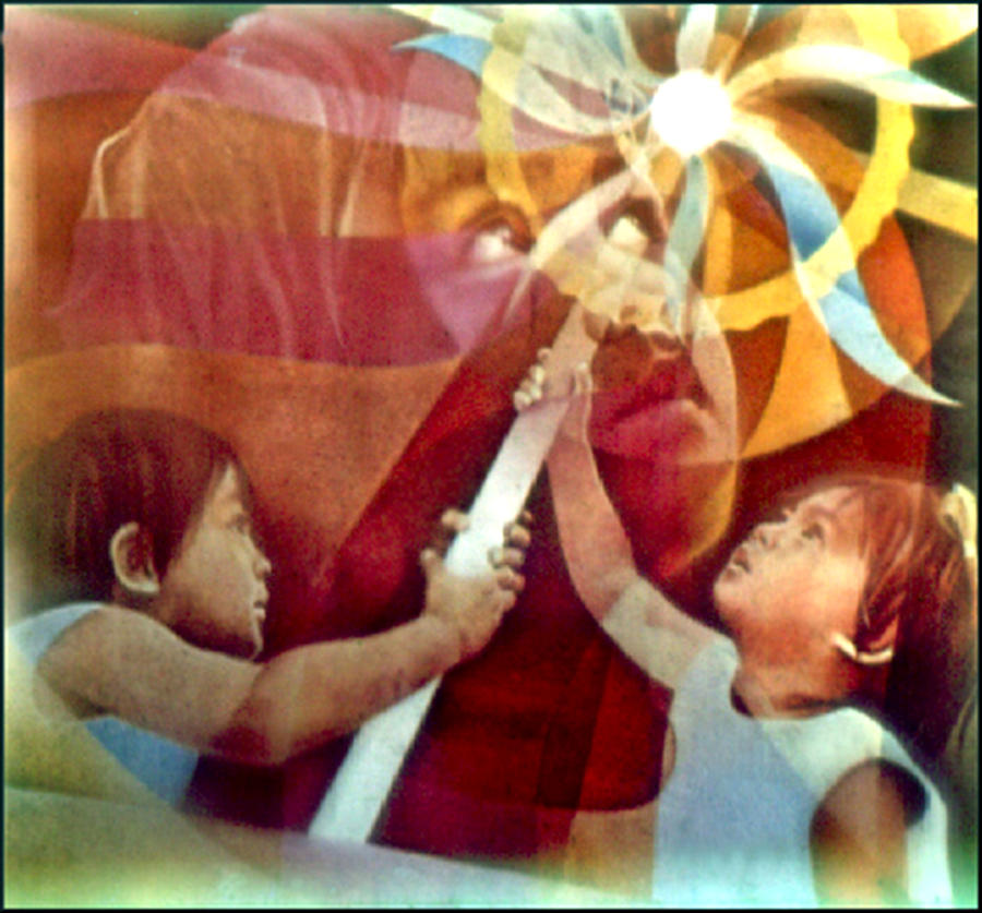 Matthew 11:28 Painting - Come Unto Me 1966 by Glenn Bautista