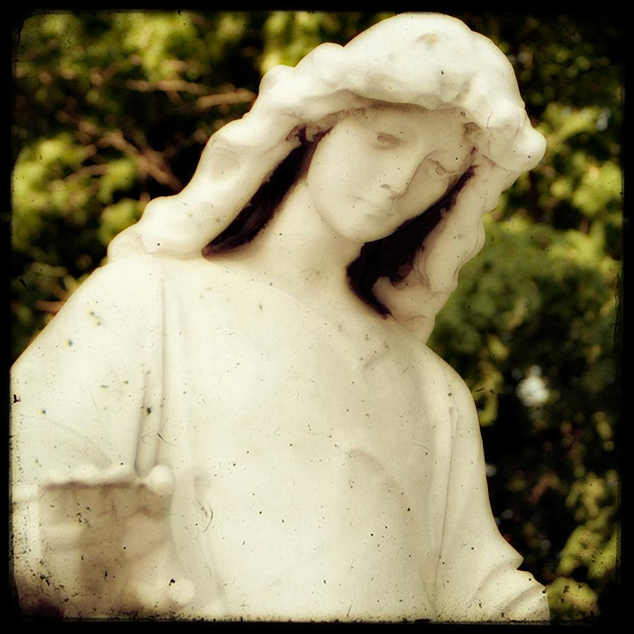 Statue Photograph - Spiritual Close Up by Gothicrow Images