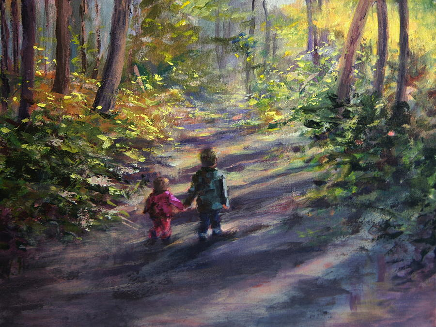 Children Painting - Come With Me by Mary Haas