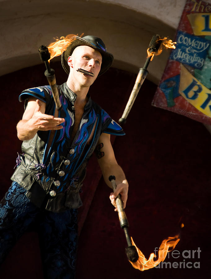 Renaissance Festival Photograph - Comedy Juggling by MAD Art and Circus