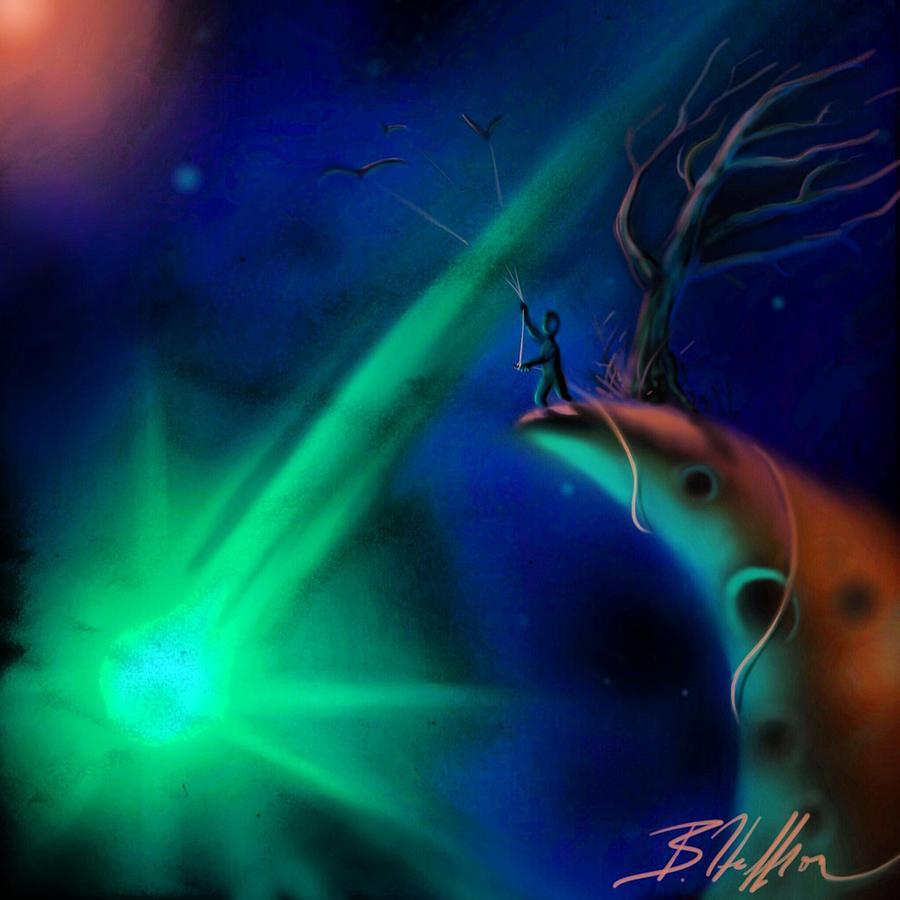 Comet Digital Art - Comet by Brandon Heffron