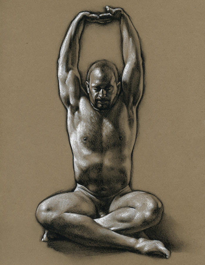 Male Drawing - Comfort 2 by Chris Lopez