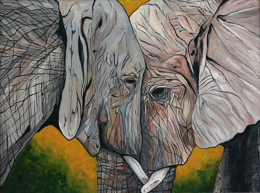 Elephant Painting - Comfort by Aimee Vance