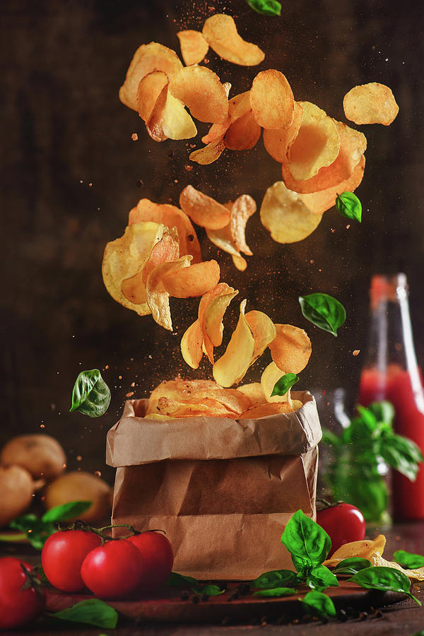 Chips Photograph - Comfort Food For Stormy Weather by Dina Belenko