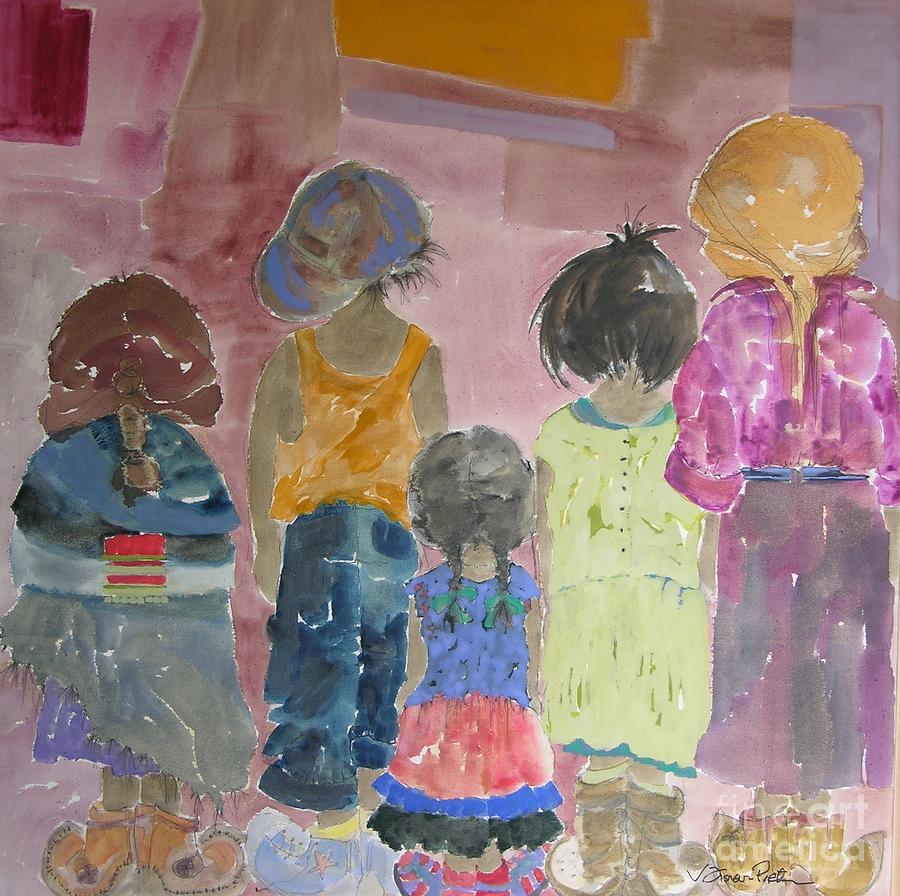 Vicki Aisner Porter Painting - Comfort In Friends by Vicki Aisner Porter