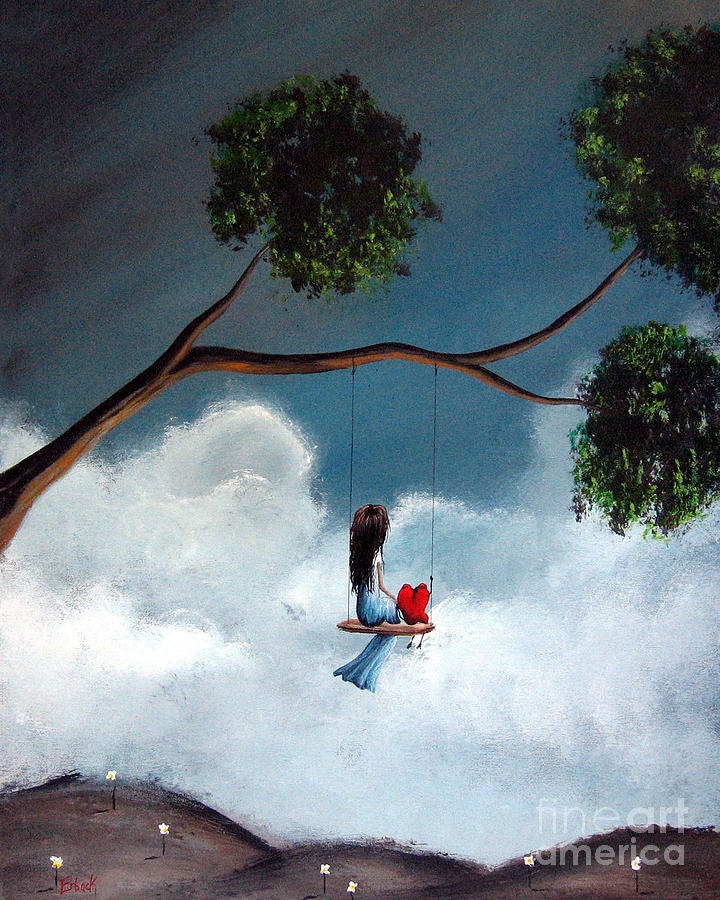 Child Painting - Comfortable Silence By Shawna Erback by Shawna Erback