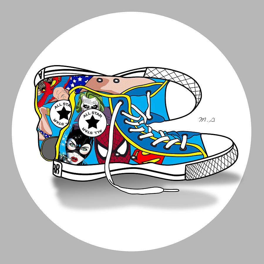 Comics Digital Art - Comics Shoes 2 by Mark Ashkenazi