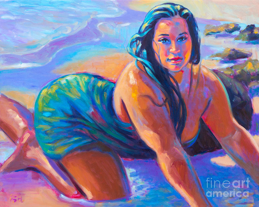 Mermaid Painting - Coming Ashore by Isa Maria