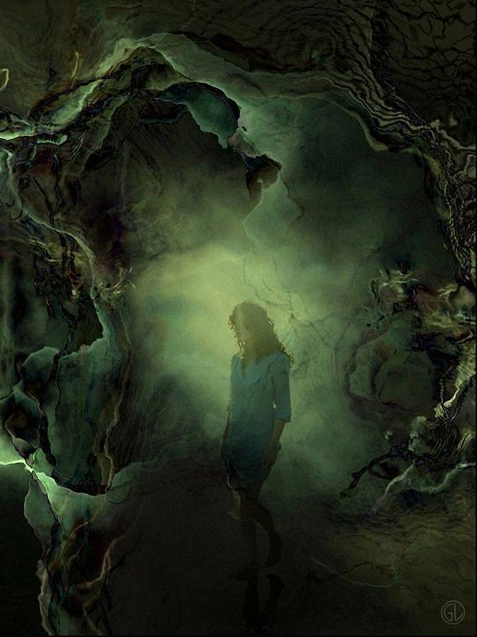 Surreal Digital Art - Coming Back From Dreamland by Gun Legler