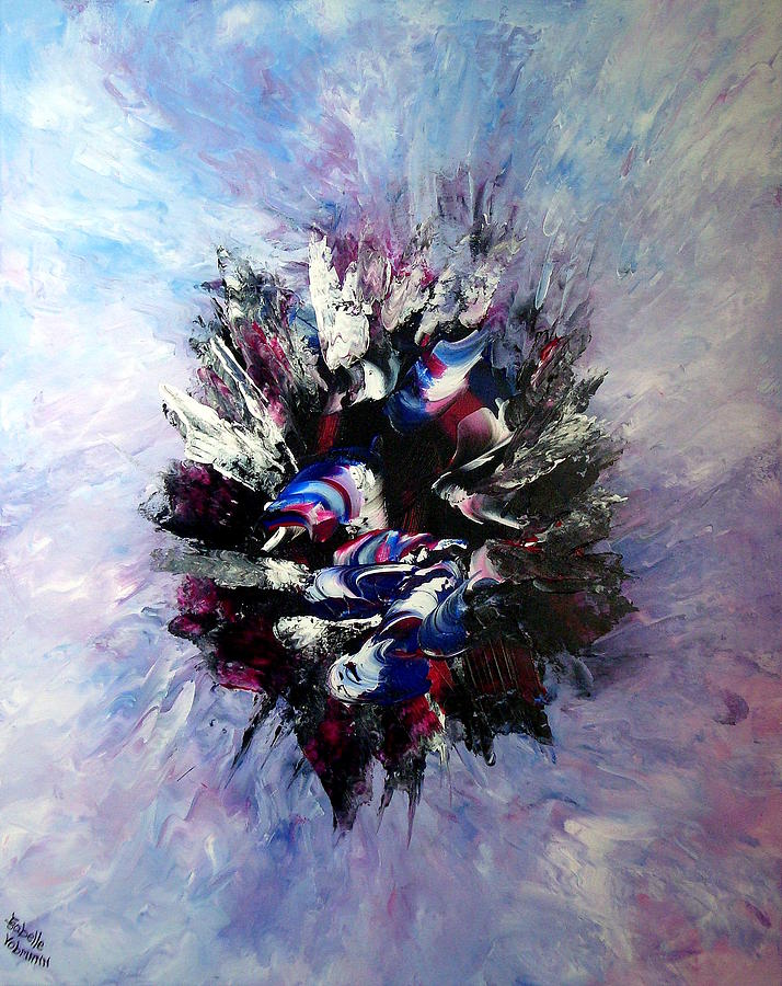 Abstract Painting - Coming From The Other Side Of Life by Isabelle Vobmann
