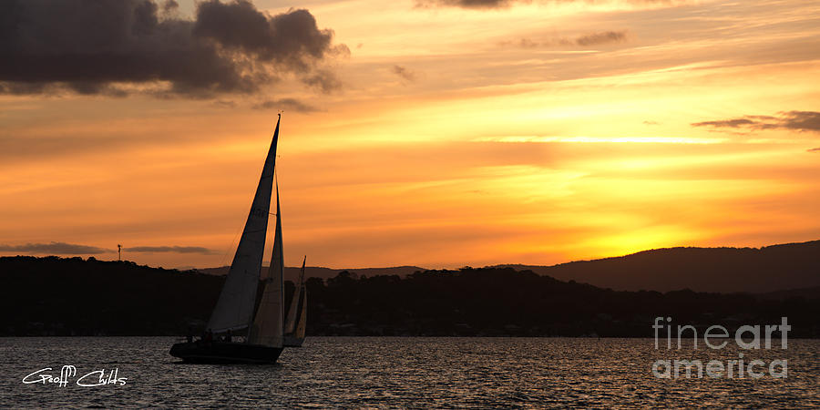 Sunset Photograph - Coming Home .  Sunset by Geoff Childs