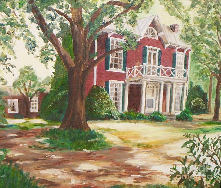 Brick Painting - Coming Home by Julie Brugh Riffey