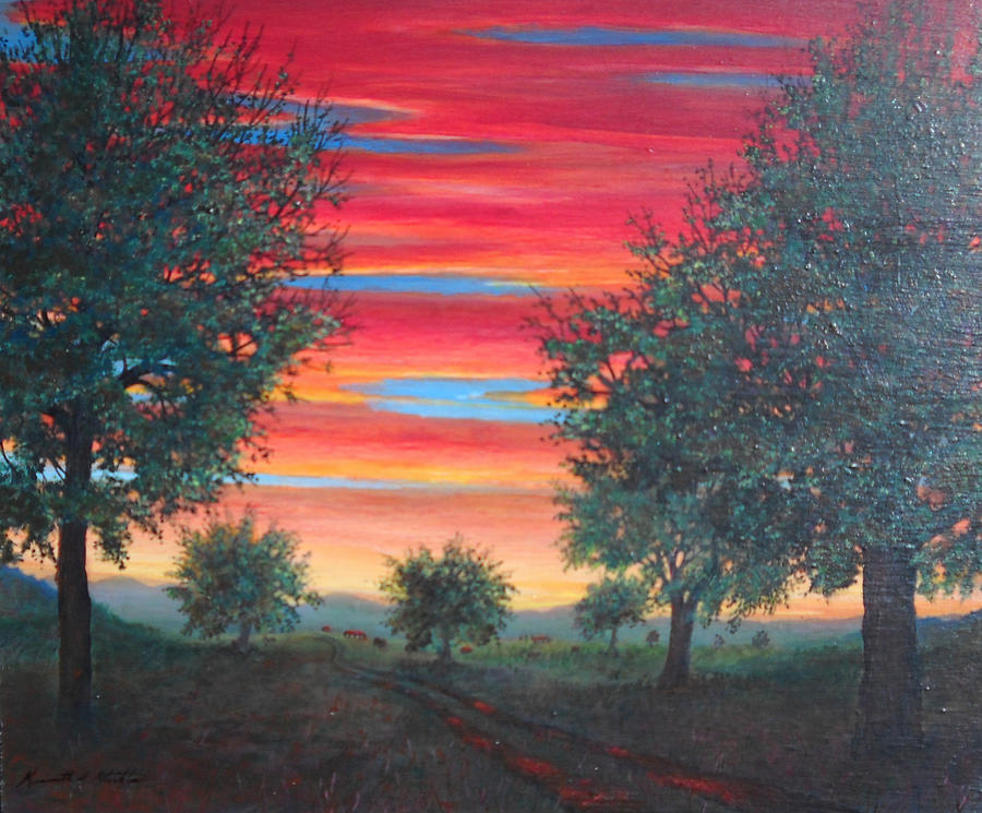 Landscapes Painting - Coming Home by Kenneth Stockton