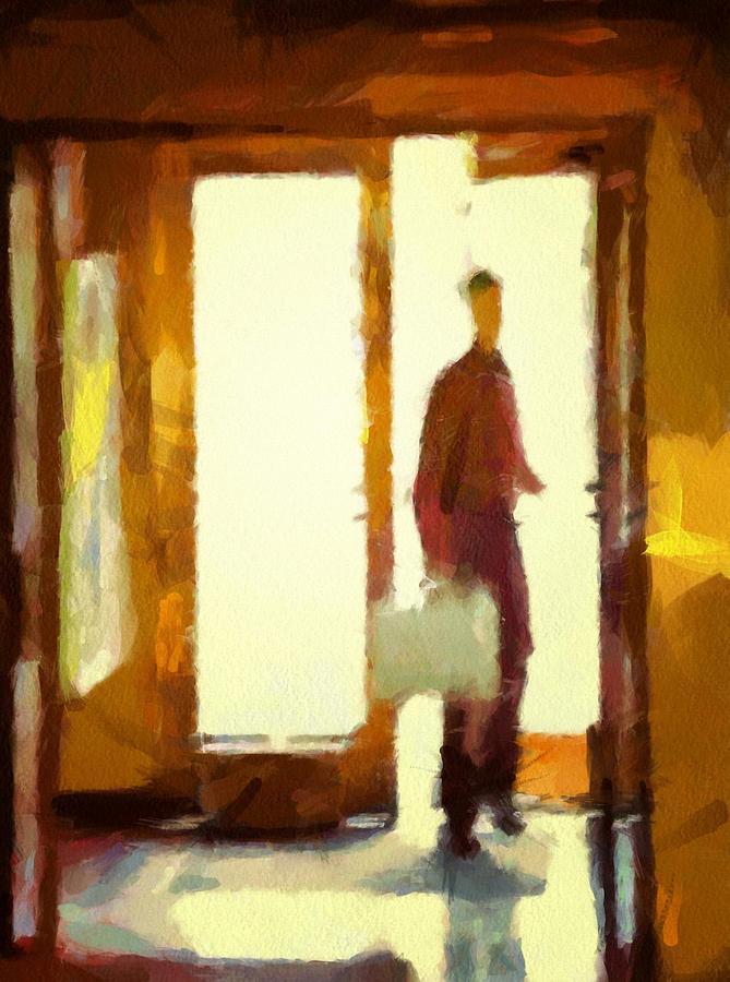 Man Digital Art - Coming In From The Sunshine by Gun Legler