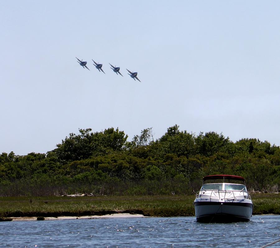 Blue Angels Photograph - Coming In Low by French Toast
