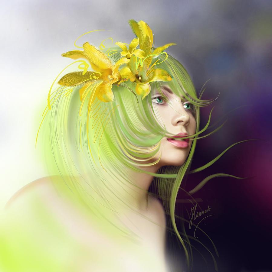 Flower Drawing - Coming Of Spring by Anna Ewa Miarczynska