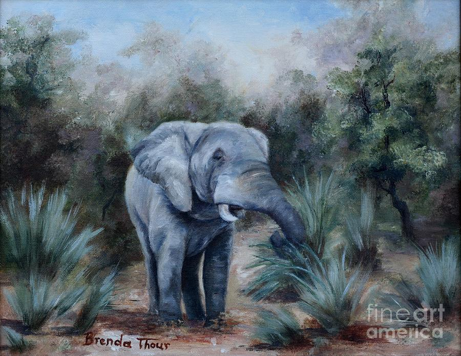 Wildlife Painting - Coming Through by Brenda Thour