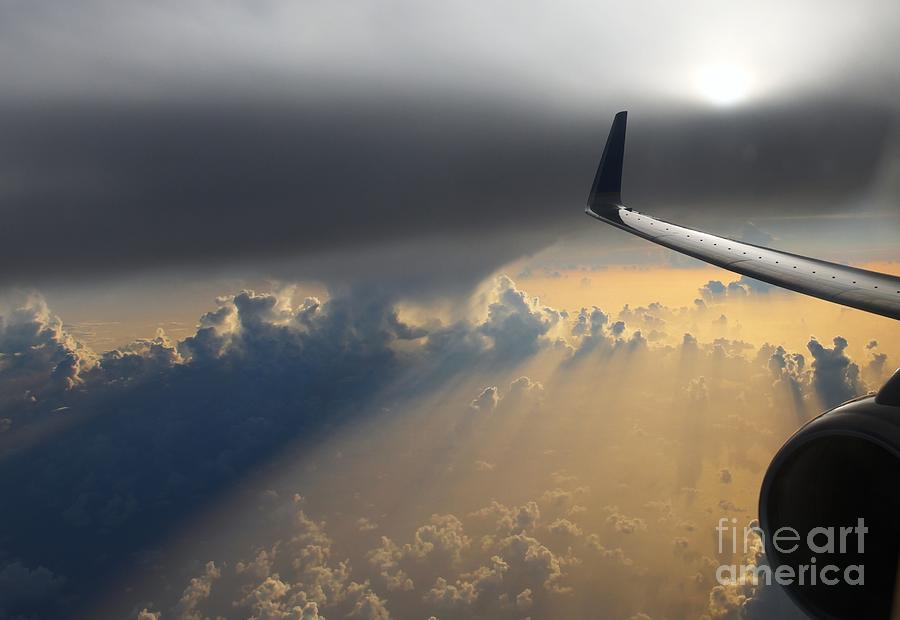 Airplane Photograph - Coming Thru The Storm by Bob Hislop