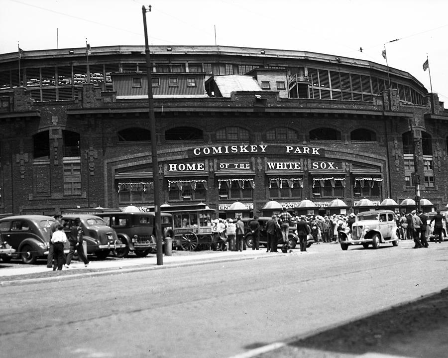 Retro Photograph - Comiskey Park Looms by Retro Images Archive