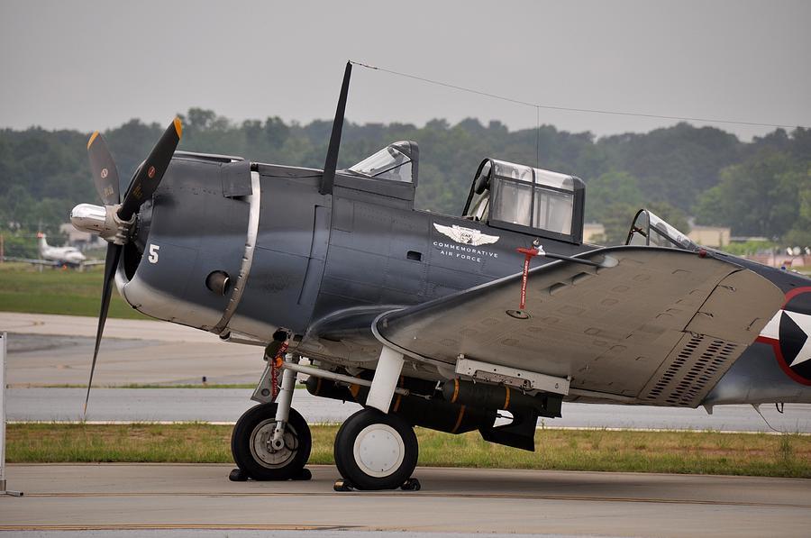 Airplane Photograph - Commemorative Air Force - Douglas Sbd Dauntless by John Black