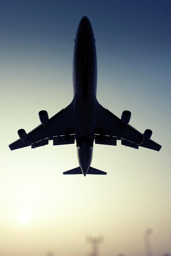 Outdoors Photograph - Commercial Airliner by Greg Bajor