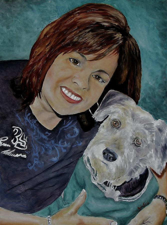 Nascar And Pet Lover Painting - Commission Art by Stefon Marc Brown