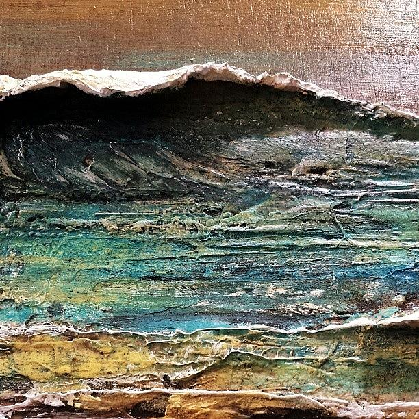 Surf Photograph - #commission Work In Progress.  #texture by Tim Chandler