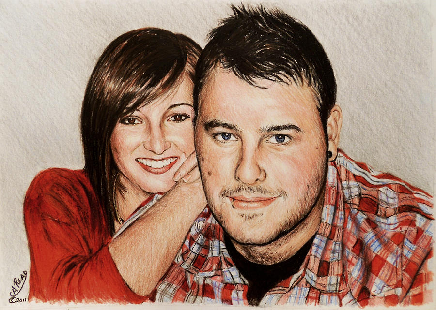 Portraits Drawing - Commissions by Andrew Read