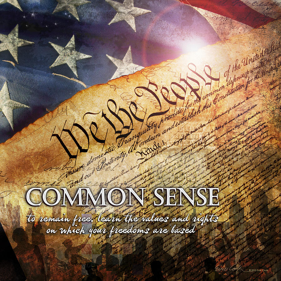 Constitution Digital Art - Common Sense by Evie Cook