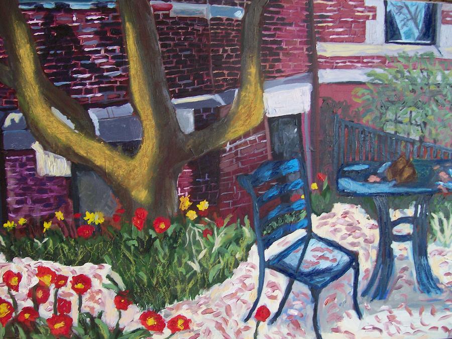Landscape Painting - Commonwealth Avenue Boston by Carmela Cattuti