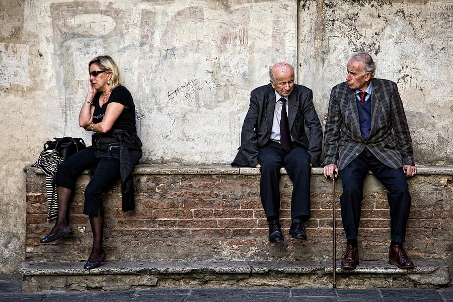 Street Photography Photograph - Communication by Dave Bowman